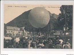 DIGNE : Ascension D'un Ballon, Ballon Rond - Tres Bon Etat - Digne
