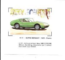 BW83 - IMAGE CHADENAC - ALPINE RENAULT - COLLEE SUR PAPIER - Cars