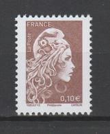 FRANCE / 2018 / Y&T N° 5250 ** : Marianne L'engagée (de Feuille Gommée) 0.10 € - Gomme D'origine Intacte - Unused Stamps