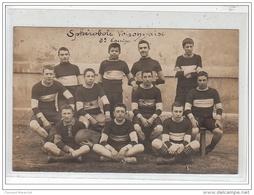 """VOIRON : Carte Photo De La """"""""""""""""Sphérobole Voironnaise"""""""""""""""" (équipe De Rugby) Vers 1910 - Très Bon état - Voiron"""