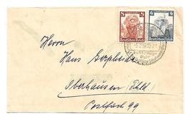 III-667/ 3. REICH - Nothilfe 1935 (Vokstrachten) Mit Oertwerbestempel Langen (Hessen) Nach Oberhausen - Allemagne
