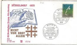 ALEMANIA FDC 1973 RELIGION CAMPAÑA CONTRA EL HAMBRE PAN BREAD - ACF - Aktion Gegen Den Hunger