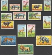 Burundi Sc# 73-87 Used 1964 50c-100fr Multi Animals - Burundi