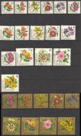 Burundi Sc# 141-156 (C17-C25) Used 1966 50c-150fr Multi Flowers - Burundi