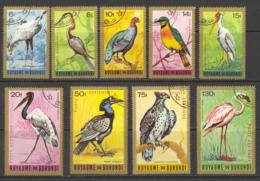 Burundi Sc# C8-C16 Used 1965 6fr-130fr Multi Birds - Burundi