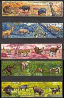 Burundi Sc# C146-C150 Used 1971 10fr-26fr Animals - Burundi