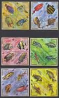 Burundi Sc# C207-C212 Used 1974 10fr-31fr Fish - Burundi