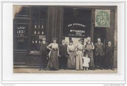 PARIS : Carte Photo Du Café CHAPEAU Au 15 Rue Vilin - Très Bon état - District 20