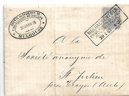EL143  ELSASS - / Mi.Nr. 42 I B, 30.1.1885 Per Bahnpost Múhlhausen-Alt-Münsterol - Elsass-Lothringen