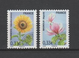 FRANCE / 2008 / Y&T PREO N° 257/258 ** : Flore (1ère Série) - (série Complète 2 TP) - Gomme D'origine Intacte - Préoblitérés