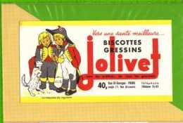 Buvard & Blotting Paper :Biscotte GRESSINS JOLIVET  La Mascotte Du Regiment - Biscottes
