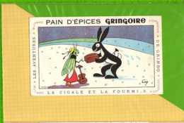 Buvard & Blotting Paper :Pain D'Epices GRINGOIRE  La Cigale Et La Fourmi  3 - Gingerbread