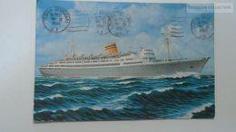 D166851 Norwegian American Line  M/S BERGENSFJORD Charlotte Amalie V.I. 1961 Stamp Sun Yat Sen  China Schiff Ship Bateau - Dampfer