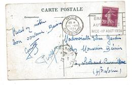 NICE - Grand Prix Automobile - Nice - 12 AOUT 1934 - Marcophilie (Lettres)