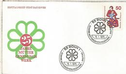ALEMANIA FDC 1975 25 JAHRE MUTTER GENESUNGS WERK ONG CARIDAD - ACF - Aktion Gegen Den Hunger
