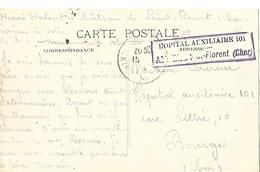 18- Cachet De L'Hôpital Aux. N°101 De Saint-Florent Sur CP - Marcofilie (Brieven)