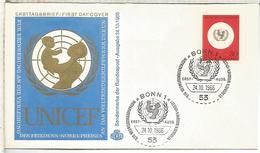 ALEMANIA FDC 1966 UNICEF - UNICEF