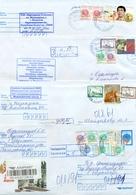 Kazakhstan.Four Envelopes Past The Mail. Four Envelopes Registered. - Kazakhstan