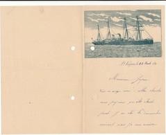 SAINT NAZAIRE - Lettre Feuillet Double, 1893 - Marine, Bateau, Voilier, Vapeur - Vieux Papiers