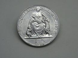 Moneta Città Del Vaticano 5 Lire 1949 - Vaticano