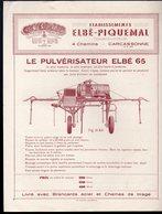 Carcassonne (11 Aude)   Prospectus ELBE PIQUEMAL   Matériel Agricole (PPP19959) - Publicités