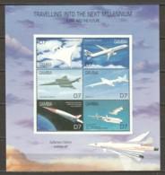 Gambia 2000 Kleinbogen Mi 3949-3954 MNH AIRPLANES - Flugzeuge