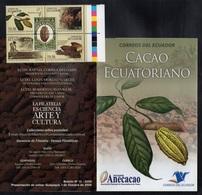 CACAO - COCOA - CHOCOLAT  - CHOCOLATE / 2008 EQUATEUR BLOC DE 4 ** & LIVRET  (ref 595) - Levensmiddelen