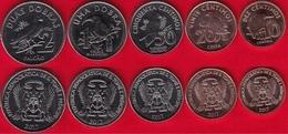 """Sao Tome And Principe Set Of 5 Coins: 10 Centimos - 2 Dobras 2017 """"Birds"""" UNC - Sao Tome And Principe"""