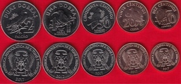 "Sao Tome And Principe Set Of 5 Coins: 10 Centimos - 2 Dobras 2017 ""Birds"" UNC - Santo Tomé Y Príncipe"