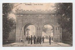 - CPA VERDUN (55) - Porte St. Paul 1904 (belle Animation) - Edition Kremer Série K N° 10 - - Verdun