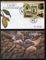 CACAO - COCOA - CHOCOLAT  - CHOCOLATE / 2008 EQUATEUR ENVELOPPE FDC ILLUSTREE NUMEROTEE  (ref 717) - Levensmiddelen