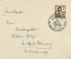 Luftschutz Reichsluftschutzbund RLS Stuttgart Glemseck Solitude Rennen Motorrad 1937 - Briefe U. Dokumente