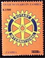 Zm1055 Zambia 2009, SG1055, K1,500 Surcharge On K1,200 Rotary - Zambia (1965-...)