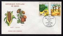 CACAO - COCOA - CHOCOLAT  - CHOCOLATE / 1976 BENIN  PREMIER JOUR ILLUSTRE (ref 1518) - Levensmiddelen