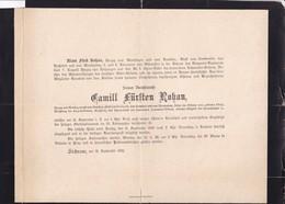 SICHROW 1892 Camill Fürthen ROHAN  Herzog MONBAJON BOUILLON ROCHEFORT GUEMENEE 92 Ans émigrés Français Allemagne - Todesanzeige