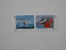 ST-PIERRE-ET-MIQUELON YT 1053/1054 ART - PEINTRES DE LA MARINE** - St.Pierre Et Miquelon