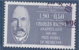 = Charles Richet, Physiologiste, Série Personnages Célèbres Médecins Et Biologistes, 1f90+50c N°2454 Oblitéré - France