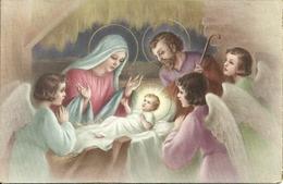 """Cartolina """"Buon Natale"""", Sacra Famiglia Con Angeli (S14) - Altri"""