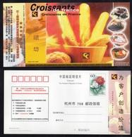 BOULANGERIE - VIENNOISERIE - PAIN / 2002 CHINE - ENTIER POSTAL ILLUSTRE (ref 490) - Levensmiddelen