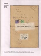 BRIEFOMSLAG LEGERPOSTERIJ 4 OP1.VI.1918 NAAR HULST -WITTE SLUITSTROOK 6 PARAF CENSOR EN CENSUUR FOLKESTONE - Autres Lettres