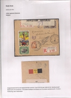 AANGETEKENDE BRIEFOMSLAG LEGERPOSTERIJ 6 OP 25.IX.1916 NAAR HULST -TRICOLORE FRANKERING-TWEE SLUITSTROKEN - Autres Lettres