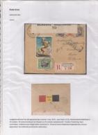 AANGETEKENDE BRIEFOMSLAG LEGERPOSTERIJ 6 OP 25.IX.1916 NAAR HULST -TRICOLORE FRANKERING - TWEE SLUITSTROKEN - Autres Lettres