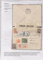 AANGETEKENDE BRIEFOMSLAG LEGERPOSTERIJ 6 OP 27.IV.1916 NAAR HULST -TRICOLORE FRANKERING -TWEE SLUITSTROKEN-DUBBELCENSUUR - Autres Lettres