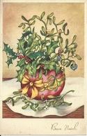 """Cartolina """"Buon Natale"""", Vaso Fiori (S16) - Altri"""