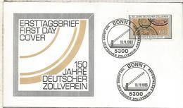 ALEMANIA FDC 1983 UNION ADUANERA CUSTOM ZOLL - Organizaciones