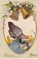 Joyeuses Pâques - Carte Relief - TBE - Pâques