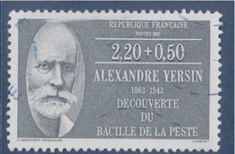 = Alexandre Yersin, Microbiologiste, Série Personnages Célèbres Médecins Et Biologistes 2f20+50c N°2457 Oblitéré - France