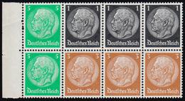 Hindenburg 1934 Heftchenblatt 81 B ** Postfrisch - Zusammendrucke
