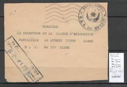 Algerie - Devant De  Lettre - Cachet FM BEZZIT SAS + Cad Bouira-  -  Marcophilie - Algeria (1924-1962)