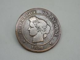 Moneta France 1896 5 Cent - Fraternite Egalite Liberte - Francia